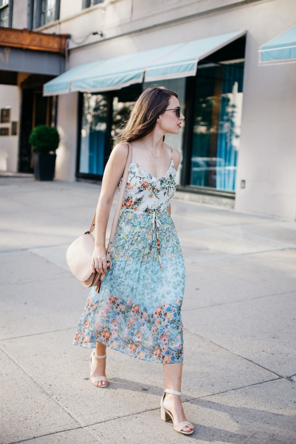 e9f848d3f13 Taking my new ditzy print Oasis dress for a summer stroll through Boston
