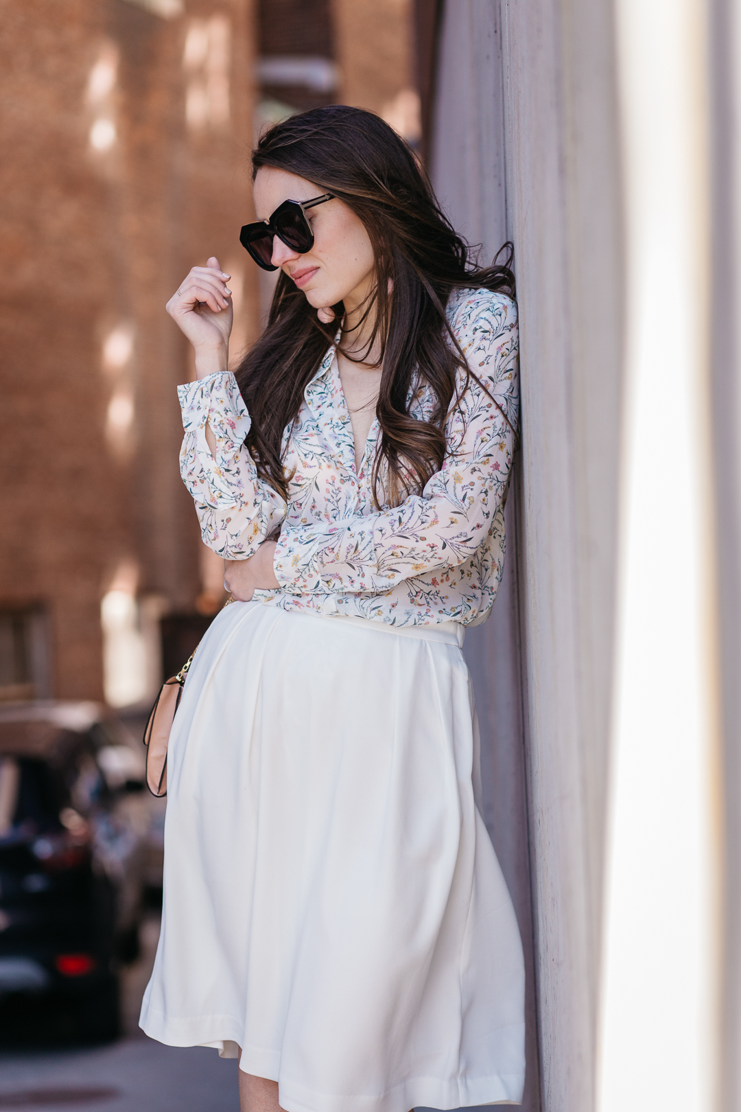 White and bright spring look with Uniqlo
