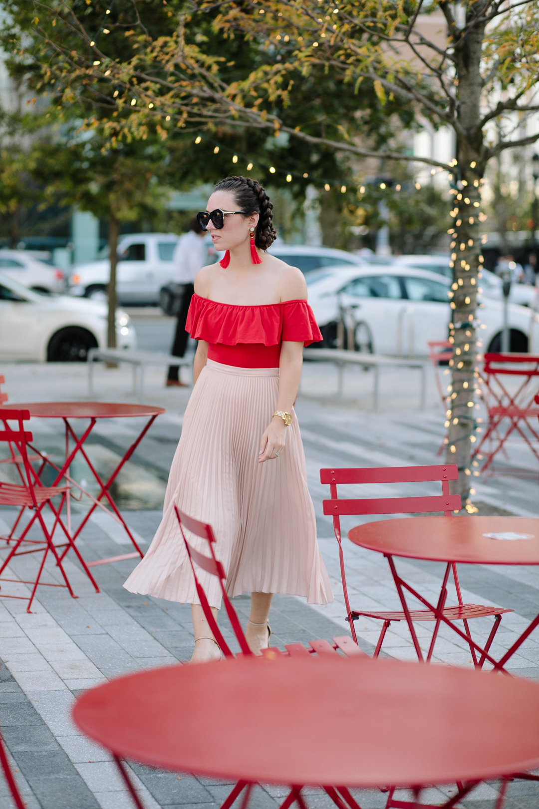 Pink and red outfit combinations