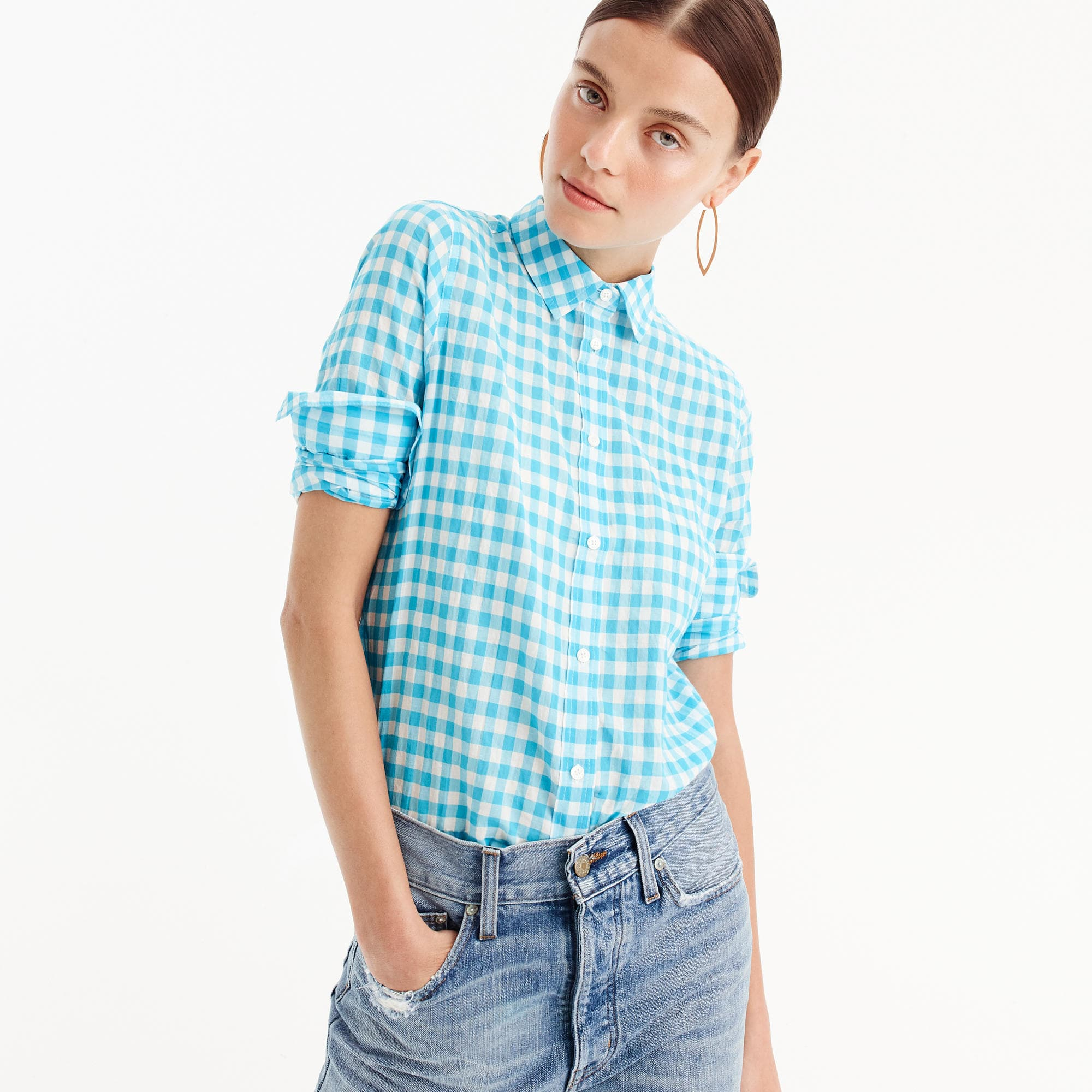 Gingham Blouse From JCrew