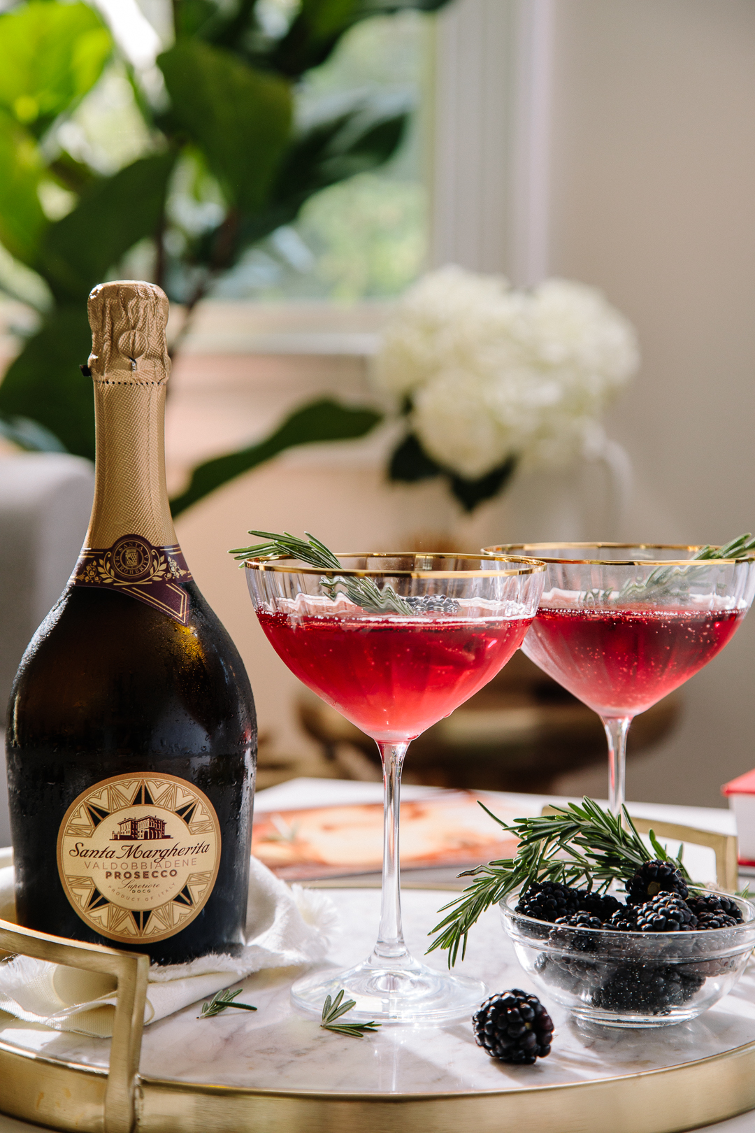 cocktails with Santa margherita
