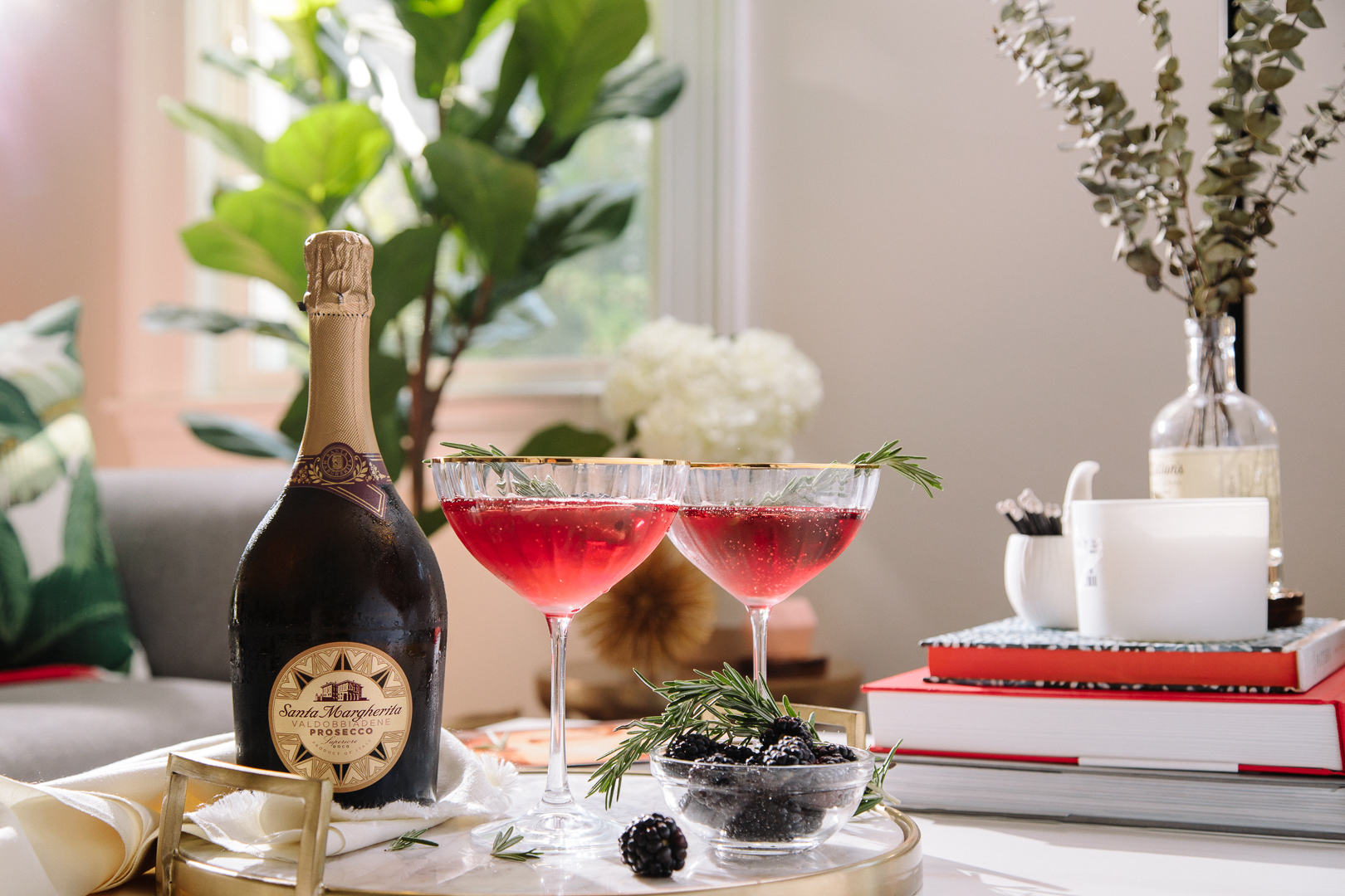 Making a fun and festive champagne cocktail