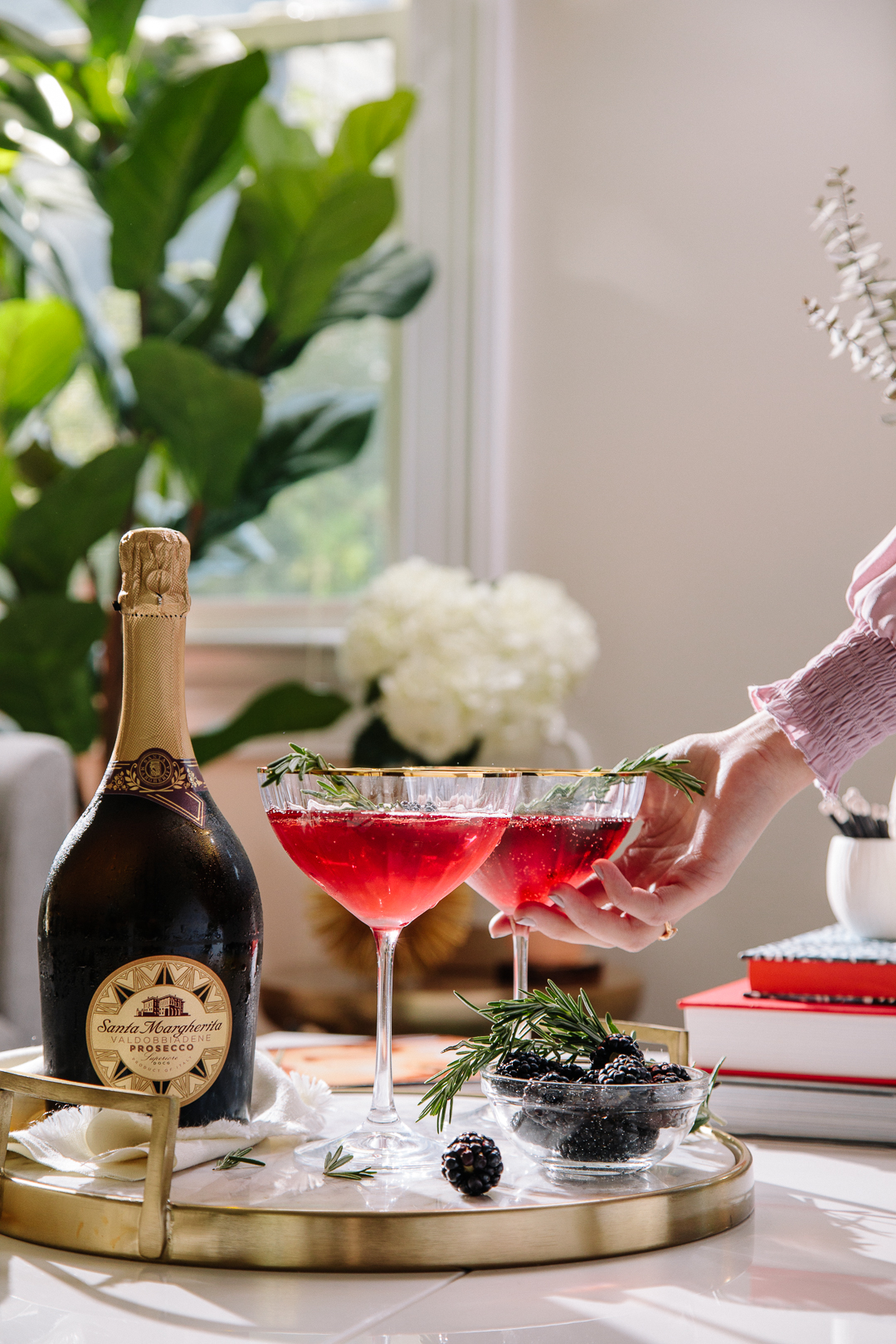 Making festive cocktails with Kerrie M Burke