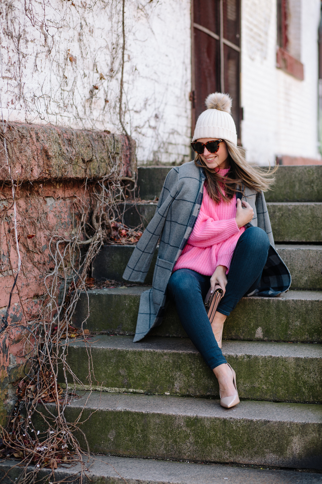Wearing Mango and Zappos for a cozy chic look