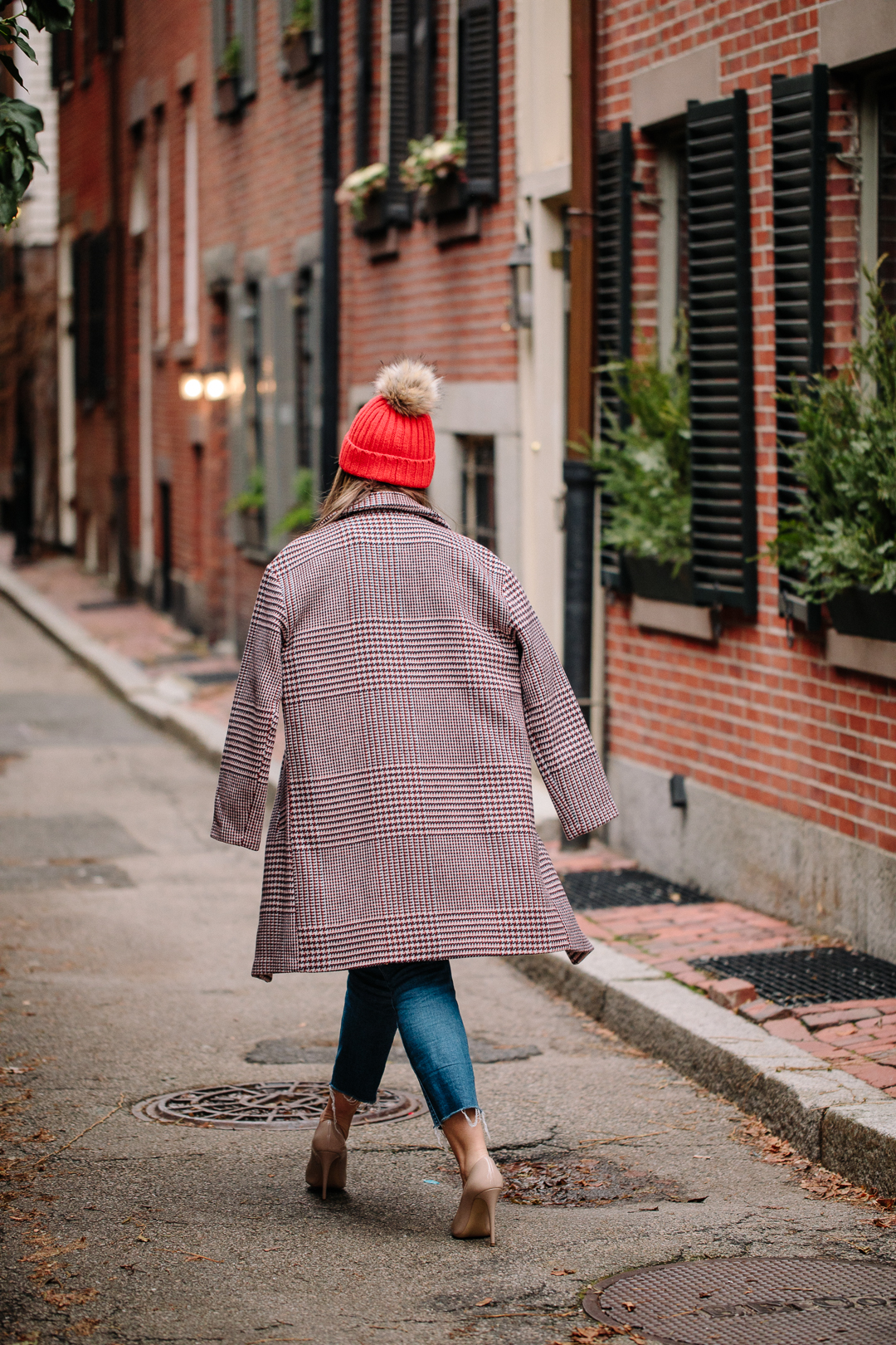 Kerrie M. Burke wears a casual holiday inspired look