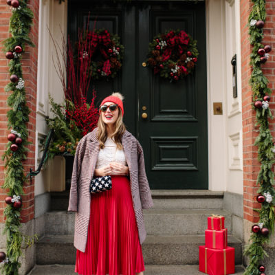 One Plaid Coat, Two Holiday Inspired Looks