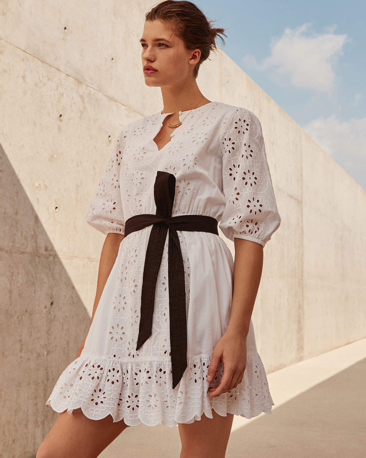White Eyelet Dress From JCrew