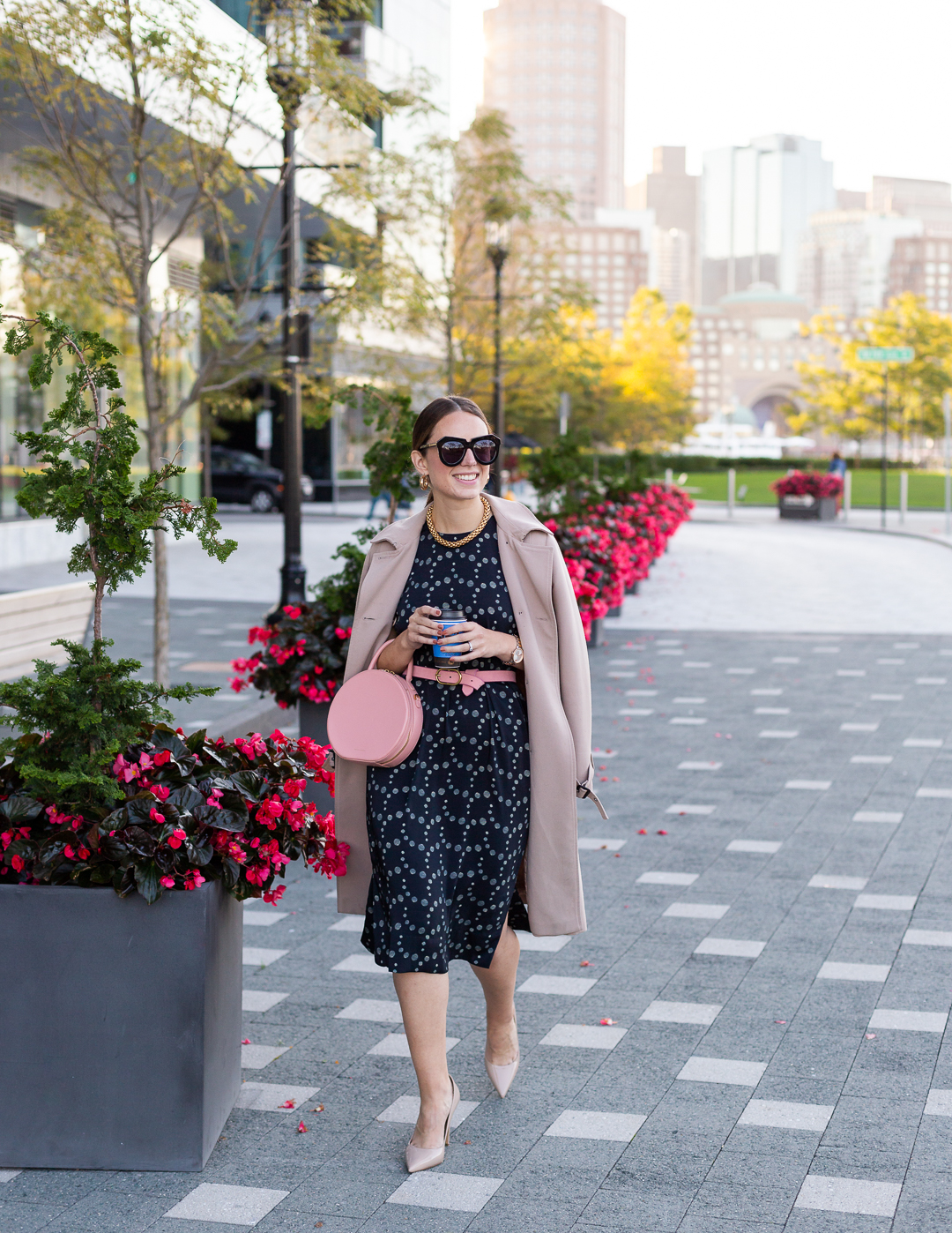 Sophisticated polka dots that are fit for the office